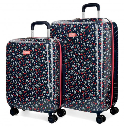 6268961 juego maletas cabina + mediana pepe jeans jareth