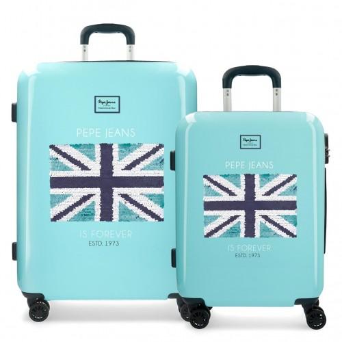 6278961 juego maletas cabina y mediana pepe jeans cuore