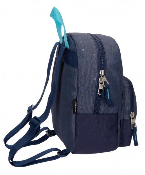 6282062 mochila de paseo 25 cm pepe jeans molly azul lateral
