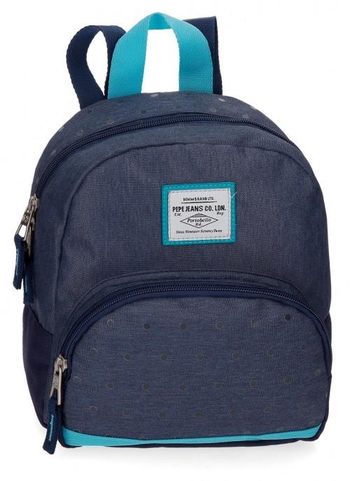 6282062 mochila de paseo 25 cm pepe jeans molly azul