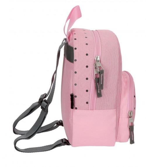 6282063 mochila de paseo 25 cm pepe jeans molly  rosa lateral