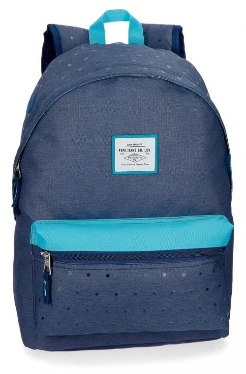 6282362 mochila 42 cm pepe jeans molly azul
