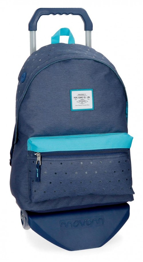 62823N2 mochila 42 cm carro pepe jeans molly azul