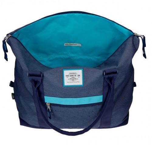 6283262 bolsa de viaje 42 cm pepe jeans molly azul interior