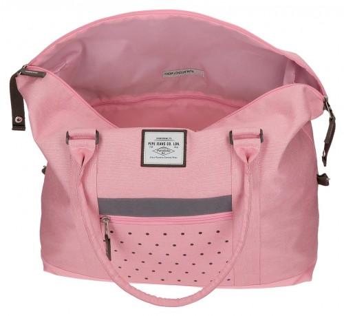 6283263 bolsa de viaje 42 cm pepe jeans molly rosa interior