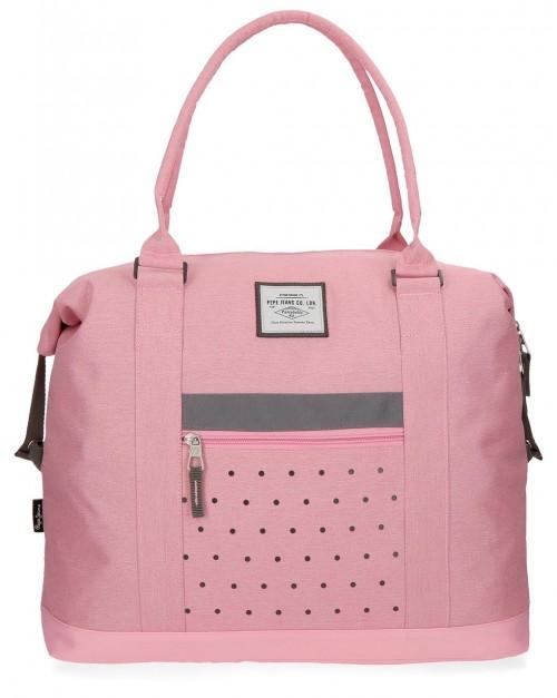 6283263 bolsa de viaje 42 cm pepe jeans molly rosa