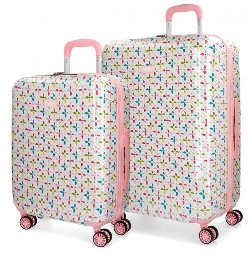 6298961 juego maletas cabina y mediana pepe jeans tina