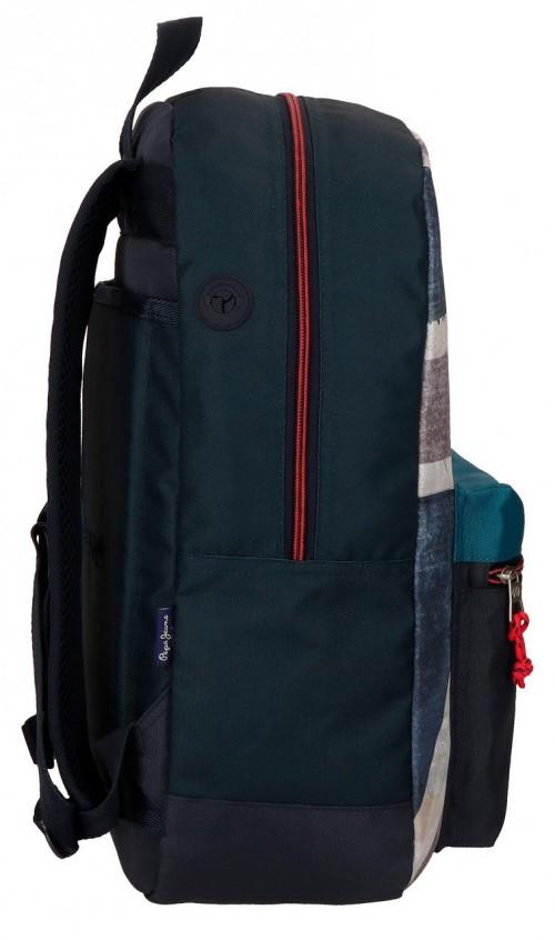 6312361 mochila 44 cm adaptable pepe jeans Ian lateral