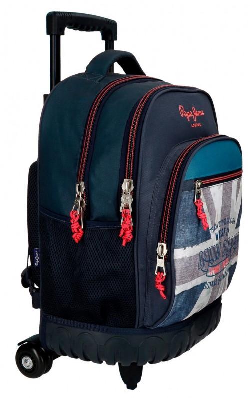 6312961 mochila compacta reforzada pepe jeans ian lateral