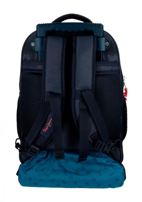 6312961 mochila compacta reforzada pepe jeans ian trasera