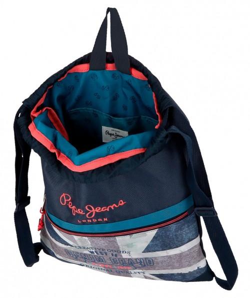 6313861 gym sac con bolsillo pepe jeans ian interior