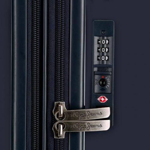 6318662 maleta cabina 4 ruedas pepe jeans ian cerradura tsa