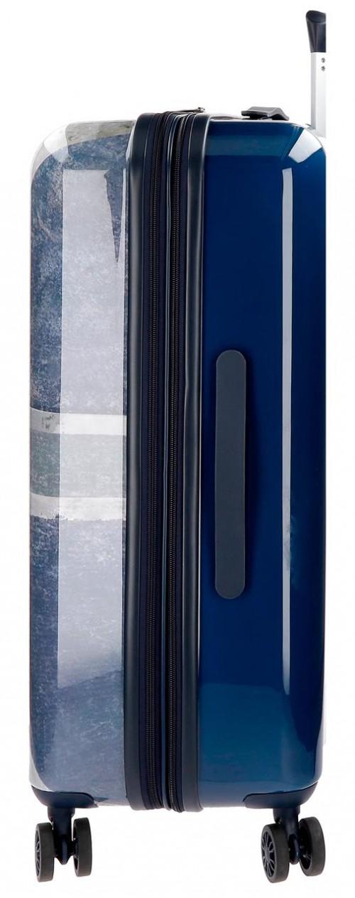 6318861  maleta mediana  70 cm pepe jeans Ian lateral