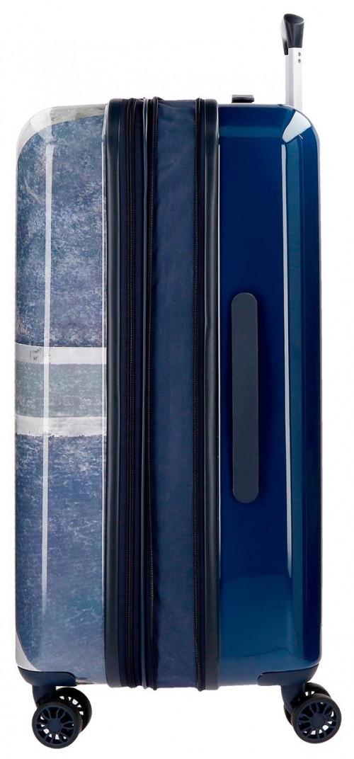 6318861  maleta mediana  70 cm pepe jeans Ian  expandible