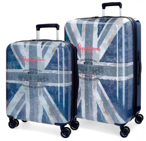 6318961 set maletas cabina y mediana pepe jeans Ian