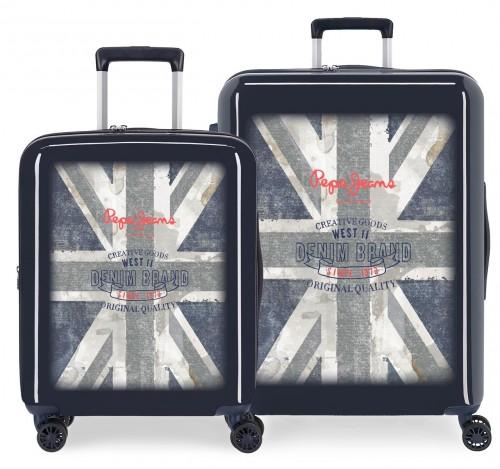 6318962 juego maletas cabina y mediana pepe jeans ian