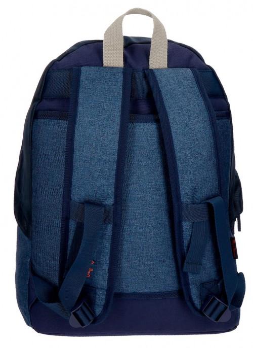 6322361 mochila 42 cm pepe jeans paul trasera