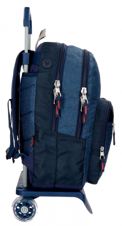 63224N1 mochila 44 cm doble comp. carro pape jeans paul lateral