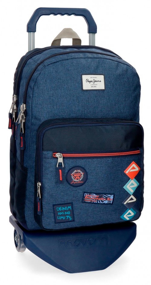 63224N1 mochila 44 cm doble comp. carro pape jeans paul