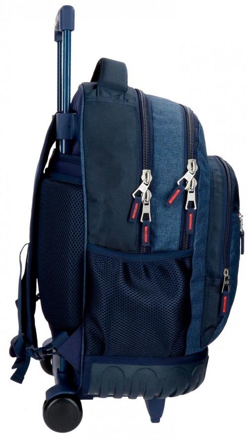 6322961 mochila compacta reforzada pepe jeans paul lateral