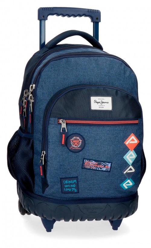 6322961 mochila compacta reforzada pepe jeans paul