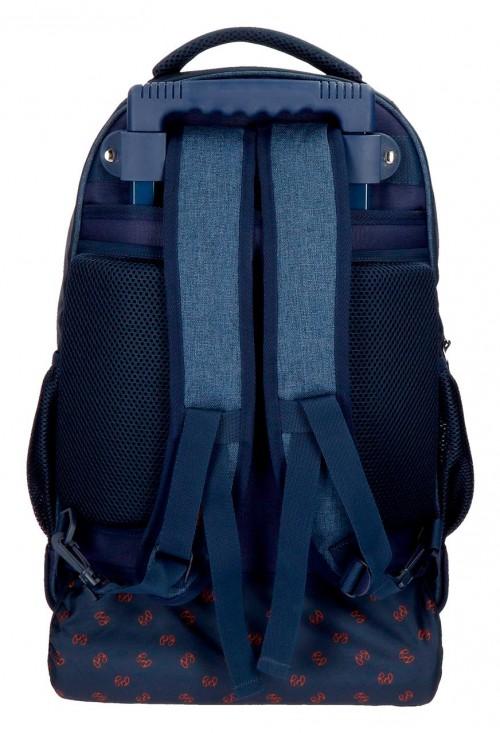6322961 mochila compacta reforzada pepe jeans paul trasera