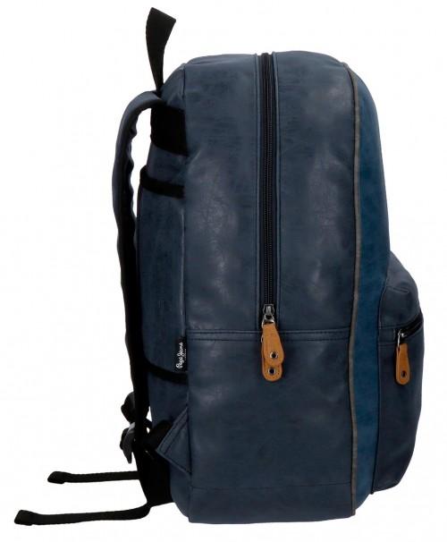 6352362 mochila portaordenador pepe jeans max azul lateral