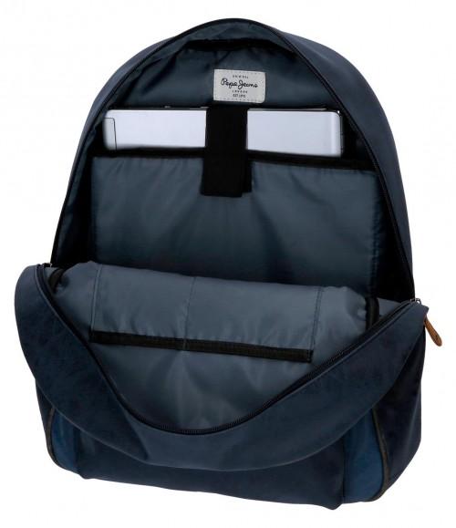 6352362 mochila portaordenador pepe jeans max azul interior