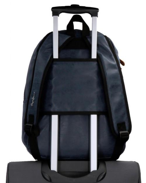 6352362 mochila portaordenador pepe jeans max azul adaptable a trolley