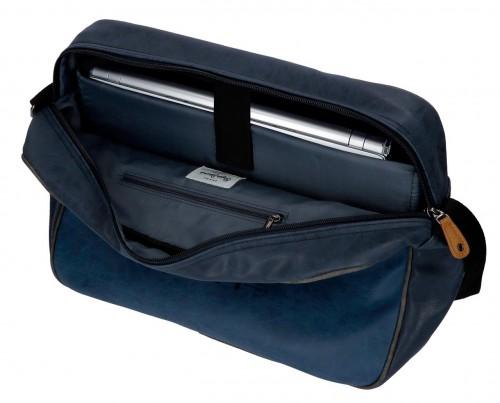 6355062 bandolera pepe jeans max azul interior - portaordenador