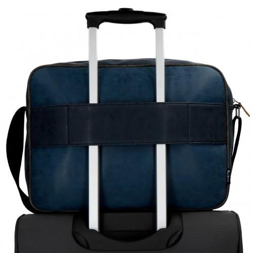 6355062 bandolera portaordenador pepe jeans max azul adaptable a trolley