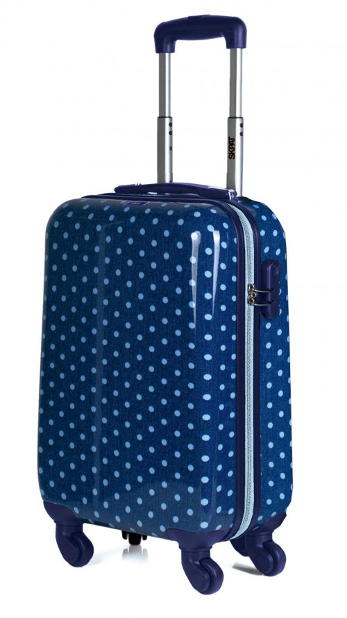 66450 03 maleta de cabina skpa t topos en tejano vista principal