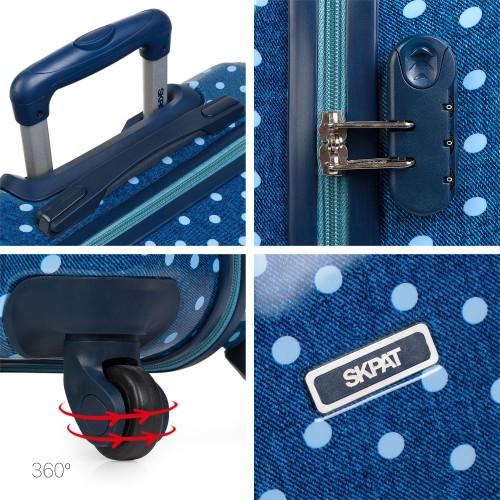 66450 03 maleta de cabina skpa t topos en tejano