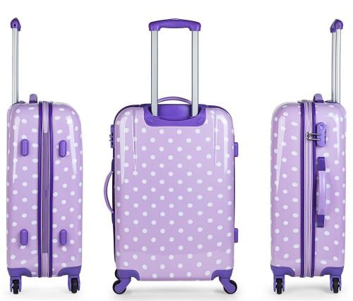 664604 maleta mediana skpa t topos malva vista lateral y trasera