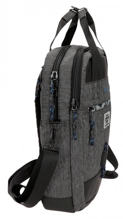7612461 mochila portaordenador 42 cm pepe jeans raw lateral