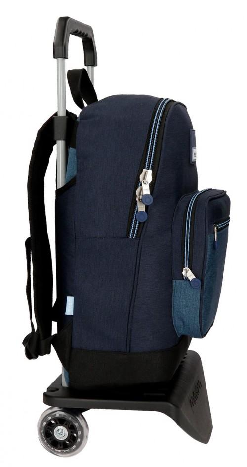 91823N1 mochila portaordenador 42 cm carro enso blue lateral