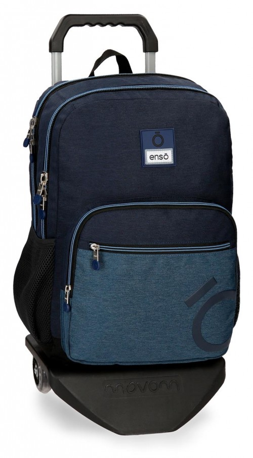 91824N1 mochila 44 cm doble c. carro enso blue