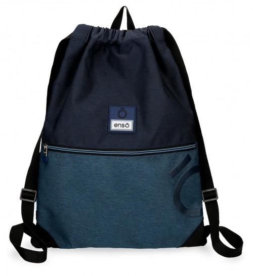 9183861 gym sac con cremallera enso blue