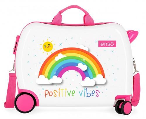 9229822 correpasillos arcoiris enso positive vibes en color blanco