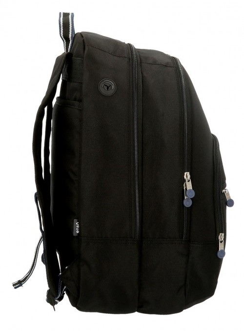9242461 mochila 46 cm doble c. enso basic negro lateral