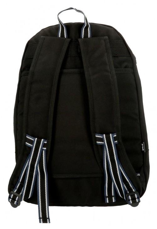 9242461 mochila 46 cm doble c. enso basic negro trasera