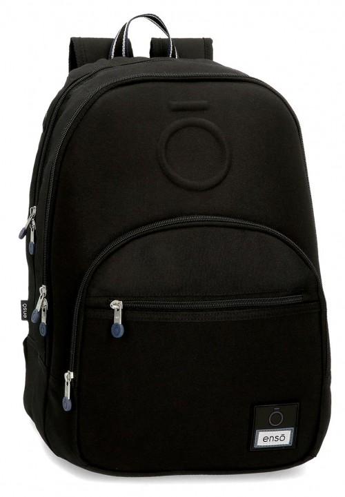 9242461 mochila 46 cm doble c. enso basic negro