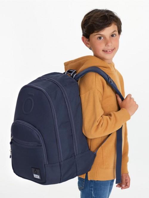 9242462 mochila 46 cm doble c. enso basic azul detalle
