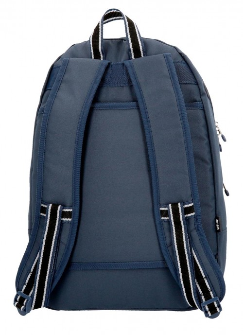 9242462 mochila 46 cm doble c. enso basic azul