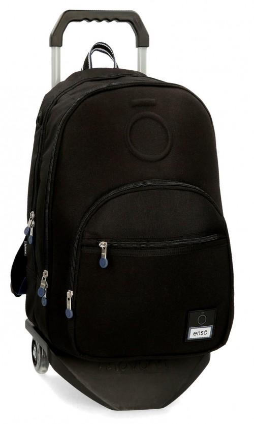 92424N1 mochila 46 cm doble c. con carro enso basic  negro