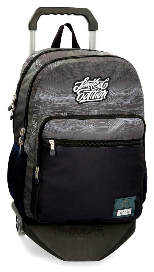 92724N1 mochila 44 cm doble c. con carro enso graffiti