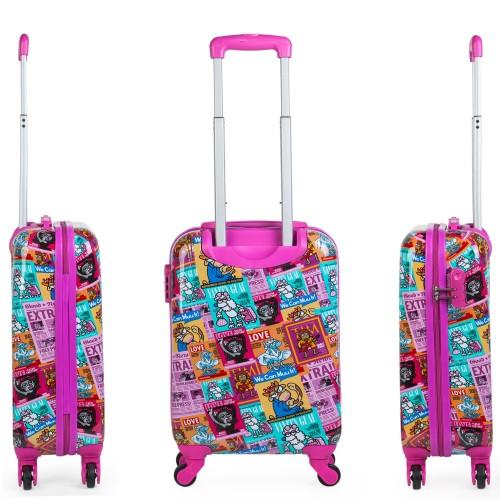 130750 maleta de cabina KIOSKUXUMUSU GIRLS de 4 ruedas  lateral y trasera