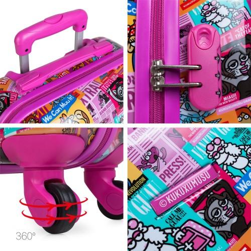 130750 maleta de cabina KIOSKUXUMUSU GIRLS de 4 ruedas detalles