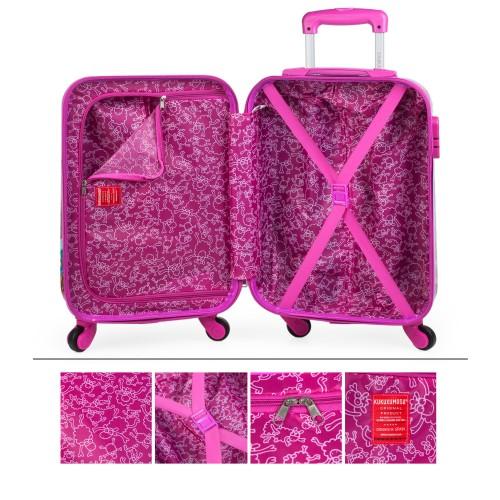 130750 maleta de cabina KIOSKUXUMUSU GIRLS de 4 ruedas interior