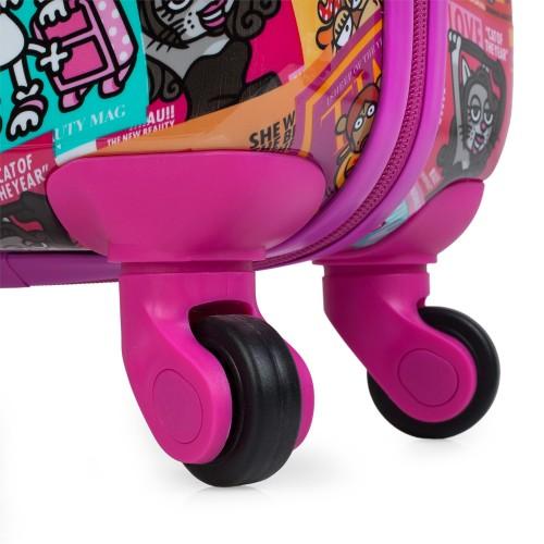130750 maleta de cabina KIOSKUXUMUSU GIRLS de 4 ruedas  ruedas giratorias 360 grados